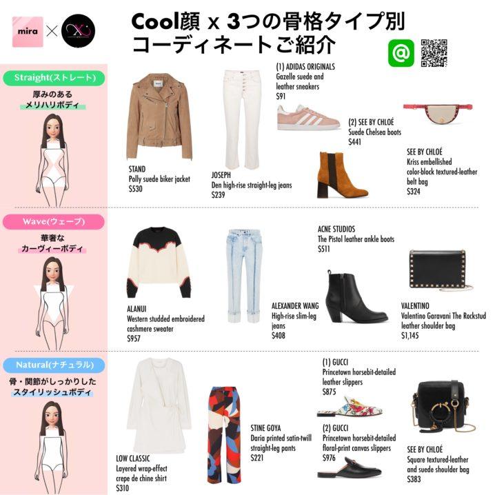 送料無料】Cool(クール)さん向けファッション 顔タイプ x 骨格